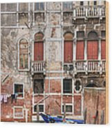 Venice Unseen Wood Print