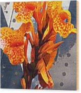 Ventura Flower Wood Print by Ron Regalado