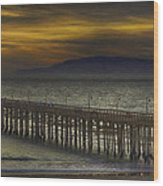 Ventura Pier Wood Print