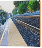 Ventura Train Station Wood Print