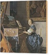 Vermeer, Johannes 1632-1675. A Young Wood Print