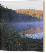 Vermont Pond Wood Print