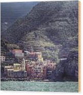 Vernazza Wood Print by Joana Kruse
