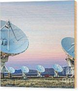 Very Large Array Of Radio Telescopes  Wood Print