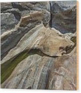 Verzasca River - Rocks  Wood Print