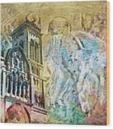 Vezelay Church And Hill Wood Print