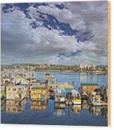 Victoria Bc Fishermans Wharf Wood Print
