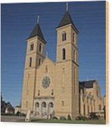 Victoria Kansas - Cathedral Of The Plains Wood Print