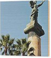 Victory Statue In Puerto Banus Wood Print