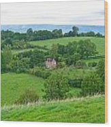 View From Glastonbury Tor Wood Print