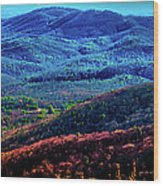 View From Table Rock Mountain Wood Print
