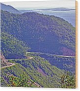 View Of Highlands Road From Skyline Trail In Cape Breton Highlands Np-ns Wood Print