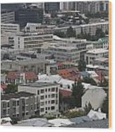 View Of Reykjavik Iceland Wood Print