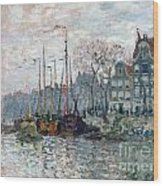View Of The Prins Hendrikkade And The Kromme Waal In Amsterdam Wood Print
