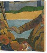 Vincent Van Gogh Painting Sunflowers Wood Print