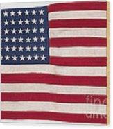 Vintage American Flag Wood Print