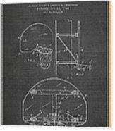 Vintage Basketball Goal Patent From 1944 Wood Print by Aged Pixel