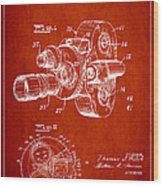 Vintage Camera Patent Drawing From 1938 Wood Print