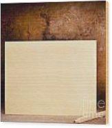 Vintage Envelope Background Wood Print