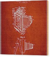 Vintage Film Camera Patent From 1948 Wood Print by Aged Pixel