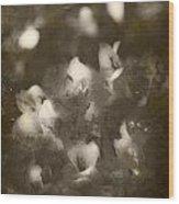 Vintage Floral Background Wood Print
