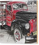 Vintage International Truck Wood Print by Douglas Barnard