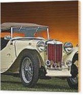 Vintage Mg Roadster Wood Print