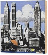 Vintage New York Travel Poster Wood Print