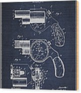 Vintage Pistol Patent From 1892 Wood Print