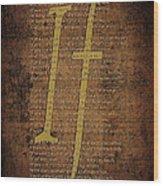 Vintage Poem 3 Wood Print