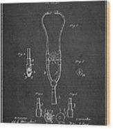 Vintage Stethoscope Patent Drawing From 1882 - Dark Wood Print