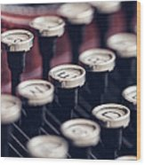 Vintage Typewriter Keys Wood Print