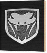 Viper Emblem Wood Print