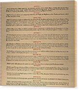Virginia Constitution, 1776 Wood Print