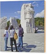 Visitors At The Martin Luther King Jr Memorial Wood Print