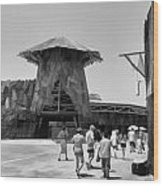Visitors Heading Towards The Waterworld Attraction Wood Print