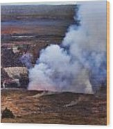 Volcano Crater Big Island Hawaii  Wood Print