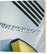 Volkswagen Vw Emblem Wood Print