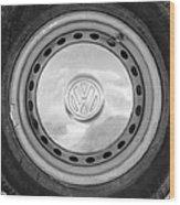 Volkswagen Vw Wheel Emblem Wood Print