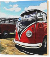 Vw Micro Bus Wood Print