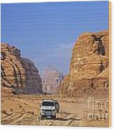 Wadi Rum In Jordan Wood Print by Robert Preston