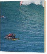 Waimea Bay Takeoff Wood Print