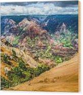 Waimea Canyon  Wood Print