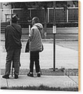 Waiting For The Bus Wood Print