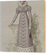 Walking Dress, Fashion Plate Wood Print