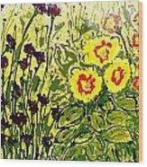 Walls Of Heavenly Flowers Wood Print