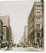 Walnut Street - Kansas City 1906 Wood Print