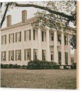 Warren Stone House In Alabama Wood Print