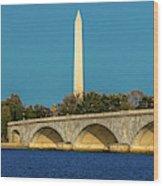 Washington D.c. - Memorial Bridge Spans Wood Print