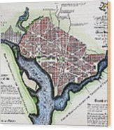 Washington, Dc, Plan, 1792 Wood Print